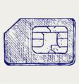 Mobile phone sim vector image