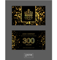 Modern glamour gift voucher with golden crown vector image vector image