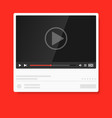 modern video player design template media player vector image