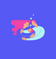 mom and dad hugging and cuddling their baby boy or vector image vector image