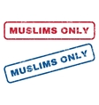 Muslims Only Rubber Stamps vector image vector image