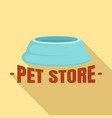 pet store plastic plate logo flat style vector image
