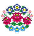 polish folk art floral decoration zalipie vector image vector image