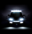 realistic car lights vector image vector image