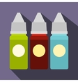 Refill bottles icon flat style vector image vector image