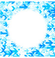 round background with blue arrows vector image