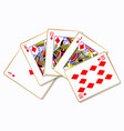 royal flush playing cards vector image vector image