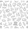 seamless pattern of science symbols vector image vector image