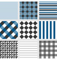 seamless pattern with square navy blue tartan vector image vector image