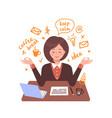 secretary woman meditates vector image