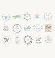 set badges and stickers for food and drink vector image vector image