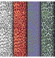 set of seamless leopard patterns vector image vector image