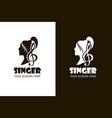 singing woman icons vector image vector image
