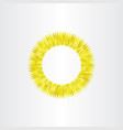 sun icon abstract yellow circle background element vector image