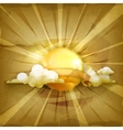 Sun old style background vector image