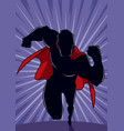 superhero running abstract background silhouette vector image vector image