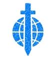 Sword Globe Grainy Texture Icon vector image vector image