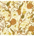 Vintage seamless pattern with blooming magnolias vector image