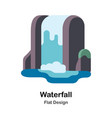 waterfall flat vector image