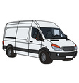 White delivery car vector image vector image
