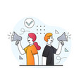 young male and female business characters vector image