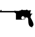 Mauser silhouette vector image
