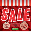 Sale Up To 50 Percent Banner vector image