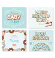 baby shower cards set for boys sweet templates in vector image