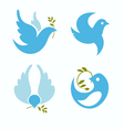 set of symbols dove of peace vector image