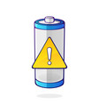 accumulator warning energy status vector image