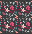 aromatic flower tea seamless pattern with vanilla vector image vector image