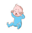 baby boy crying funny toddler expression vector image vector image