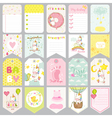 baby unicorn tags banners scrapbook labels
