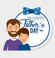 best father with son characters vector image