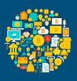 bitcoin circle concept vector image vector image