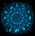 blue horoscope circle vector image vector image