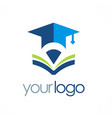 book education university logo vector image vector image