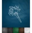 broom icon vector image vector image