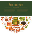 cartoon eco tourism vector image