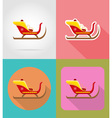 christmas and new year flat icons 16 vector image vector image