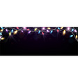 Christmas light banner vector image vector image