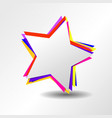 colorful star logo with symbol sign icon vector image vector image