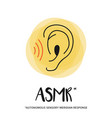 concept of listening asmr vector image