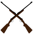 Crossed rifle vector image vector image