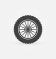 custom car wheel icon or logo element vector image vector image