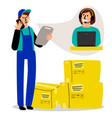 delivery logistic service vector image