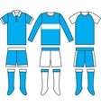 Different football Soccer uniforms vector image