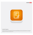 document icon orange abstract web button vector image
