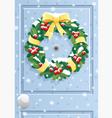 door wreath vector image vector image