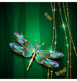 dragonfly green vector image vector image